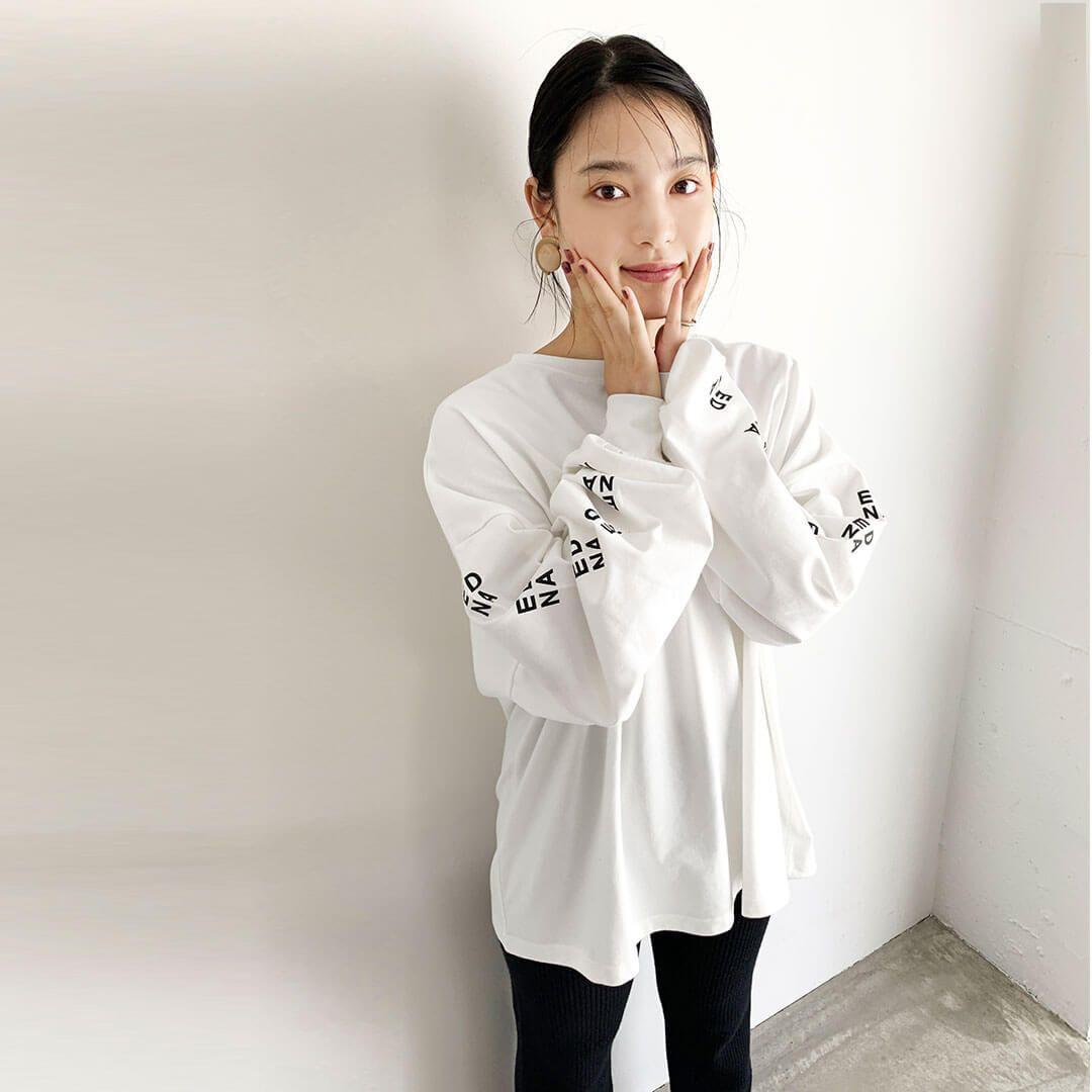 DHR0002C_ロゴ長袖Tシャツ